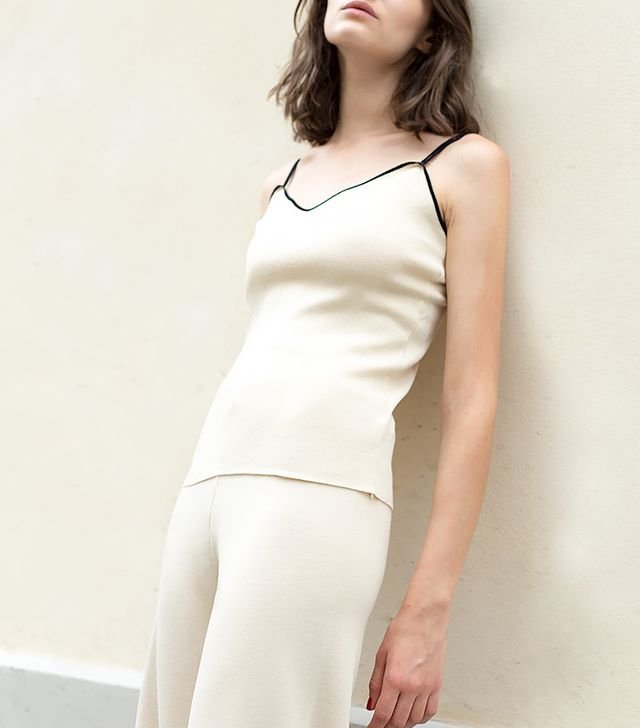 The Frankie Shop Beige Knit Camisole