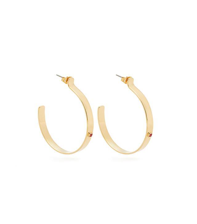 Sims stone-embellished hoop earrings