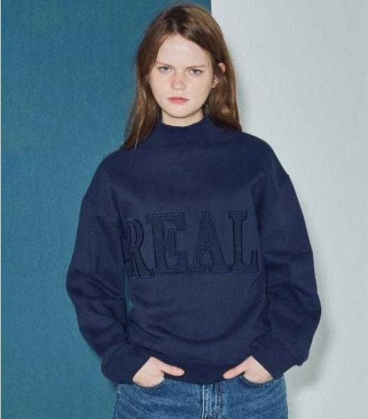 Agender Real Half Neck Sweatshirt