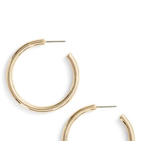Medium Sleek Tube Hoop Earrings