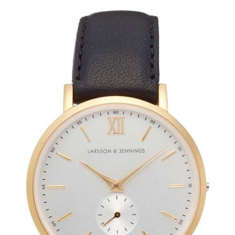 Lugano Leather Strap Watch