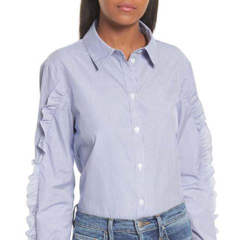 Ruffle Cotton Shirt
