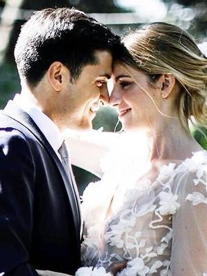 This Italian Bride's Sheer Wedding Dress Is Stunning