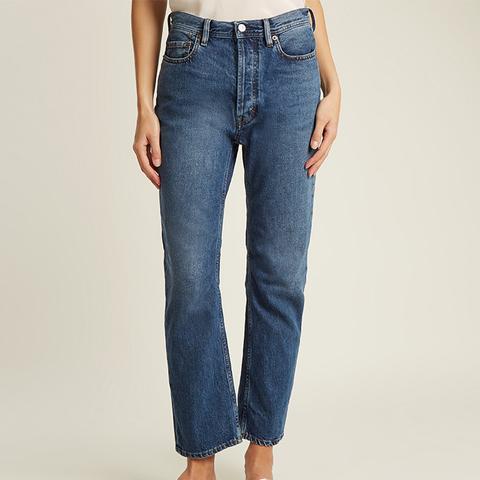 Blå Konst Log Low-Rise Straight-Leg Jeans