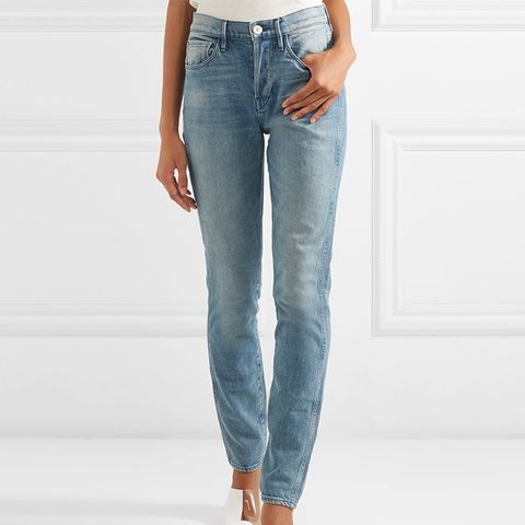W4 Shelter Slim High-Rise Slim Straight Jeans