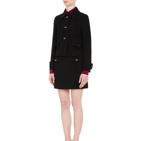 Wool Three-Button Jacket