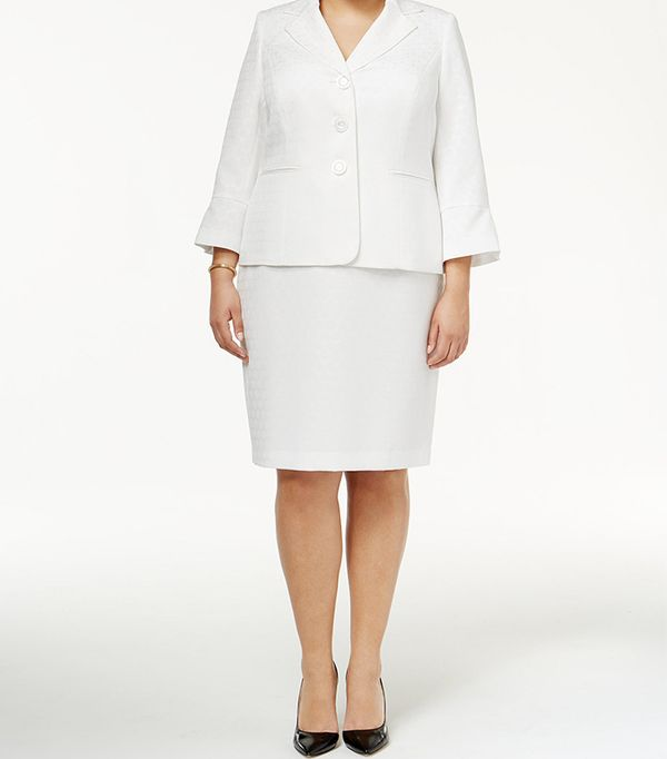 skirt suit styles - plus size
