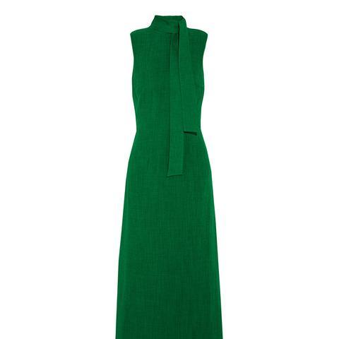 Sleeveless Maxi Dress in Emerald Green