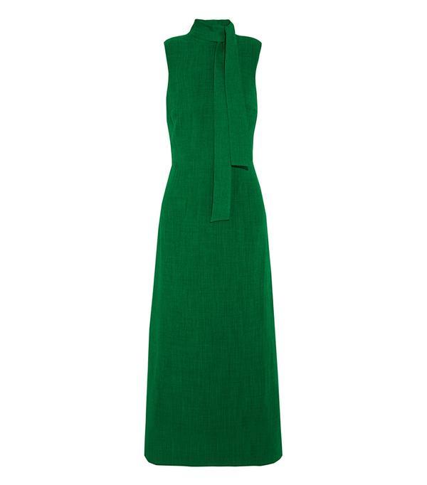 Best Summer Dresses for Work: Sleeveless Maxi Dress - Emerald Green
