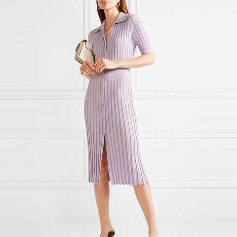 Olivia Ribbed Stretch-Knit Dress