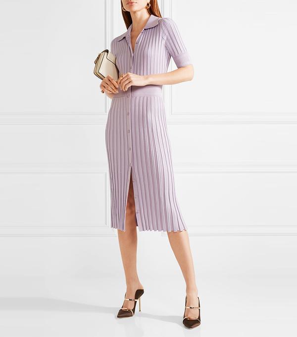 Best Summer Dresses for Work: Olivia Ribbed Stretch-knit Dress