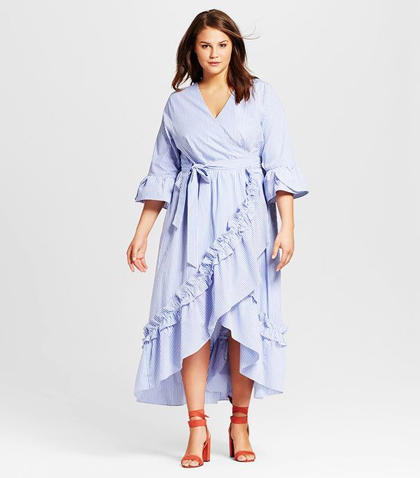 Best Summer Dresses for Work: Who What Wear Ruffle Wrap Dress