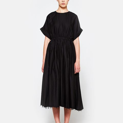 Pleated Dress in Black