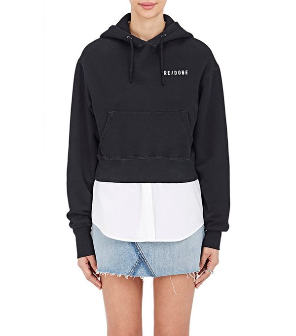 Women's Cropped Cotton Hoodie