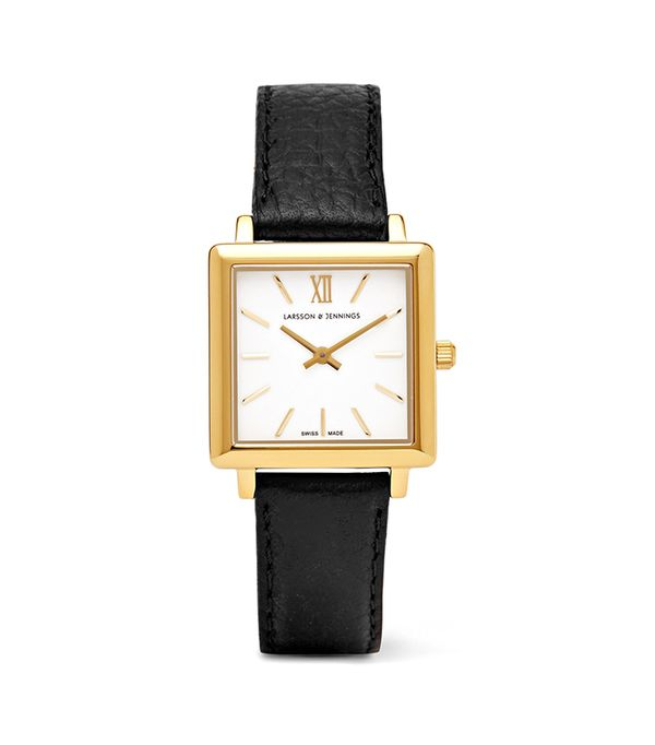 Norse Textured-leather And Gold-plated Watch