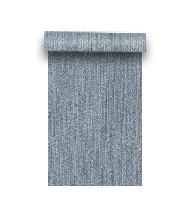 Phillip Jeffries Sateen Club Georgian Blue Wallpaper