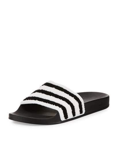Adilette Striped Slide Sandal