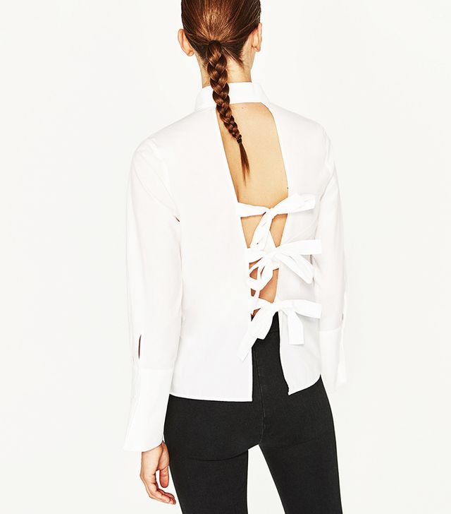 SHIRT WITH BACK BOWS