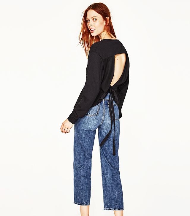 Zara Low-Back Printed T-Shirt