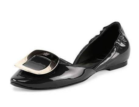 Ballerine Chips Patent d'Orsay Flat