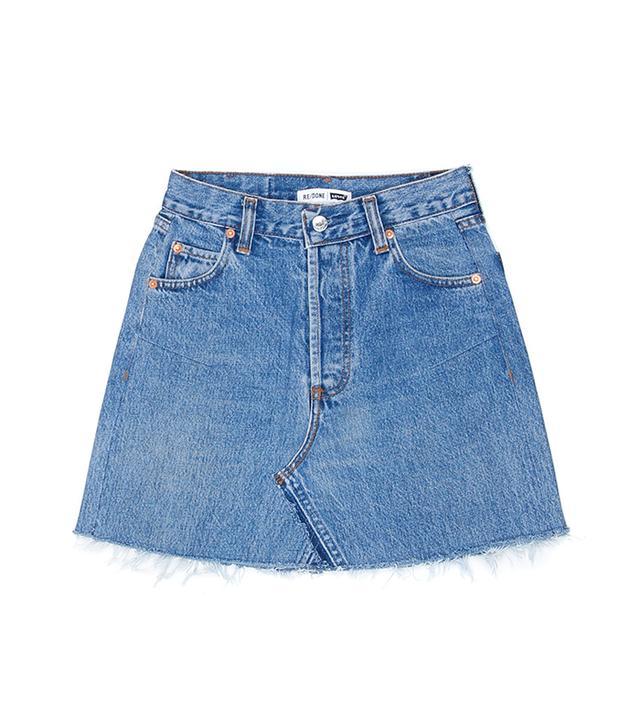 Re/Done Levi's High Rise Mini Skirt