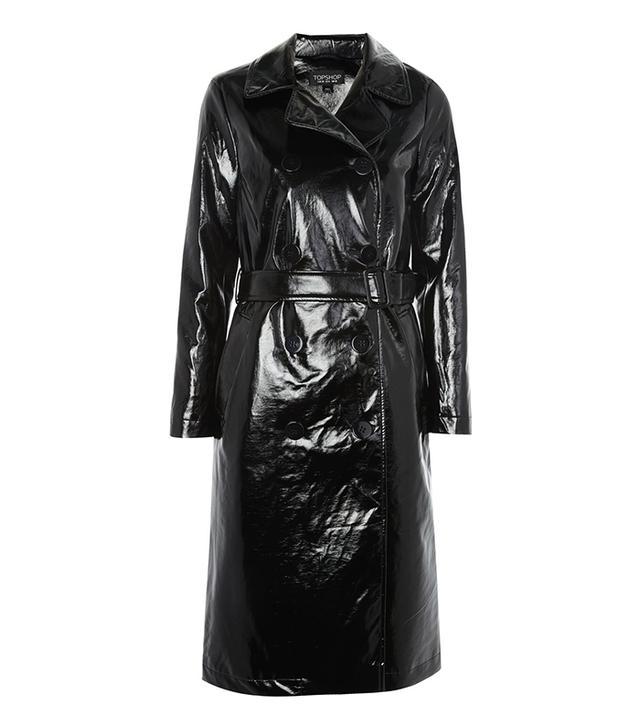 Clean Vinyl Trench Coat