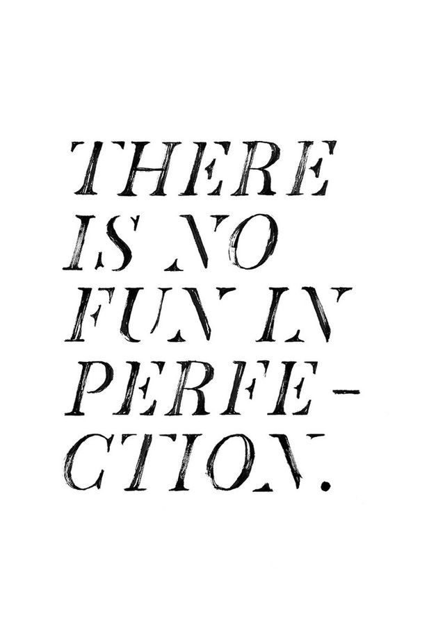 Jasmine Dowling No Fun In Perfection Print