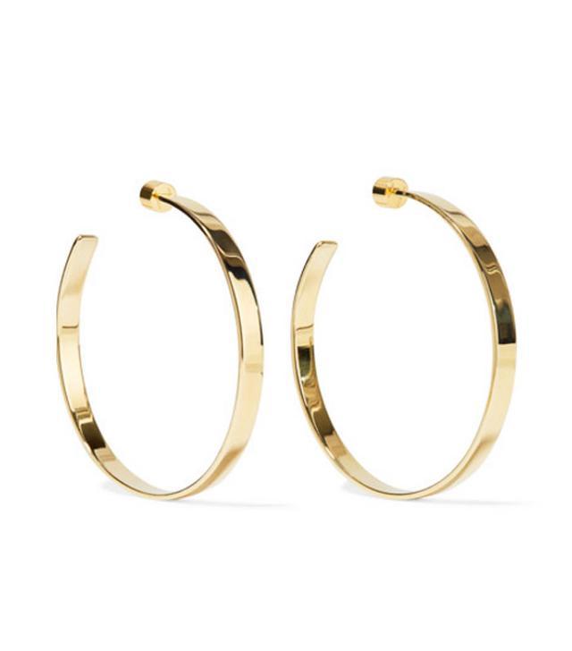 Jennifer Fisher Kate Gold-Plated Hoop Earrings