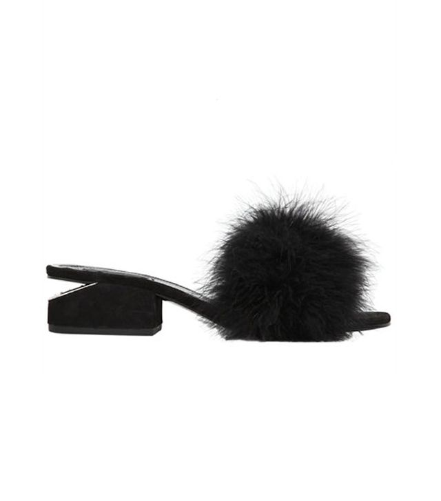 Alexander Wang Lou Feathers and Suede Sandals