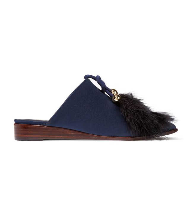 Feather fashion trend: Tibi feather slippers