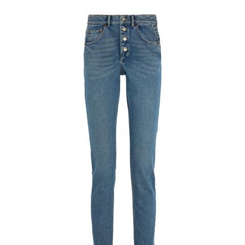 Tube High-Rise Straight-Leg Jeans