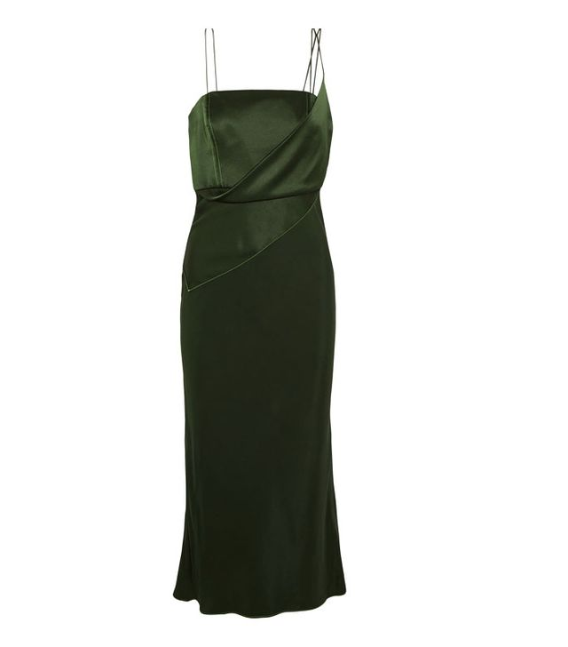 Topshop Unique Silk-Satin Midi Dress
