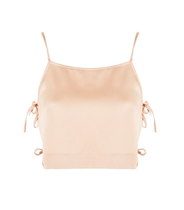 Tie Side Cropped Camisole Top