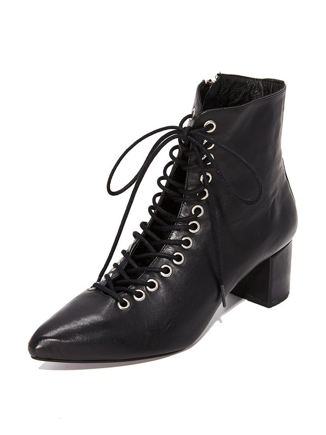 The Jane Lace Up Booties