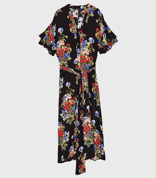 Best transitional dresses: Zara wrap dress