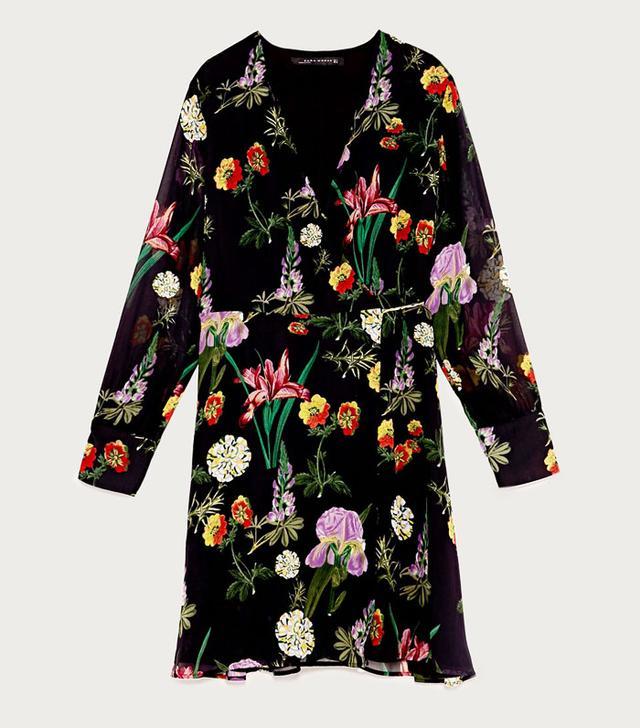 Best transitional dresses: Zara floral dress