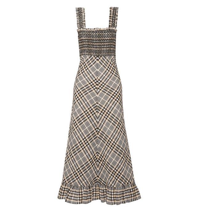 Best transitional dresses: Ganni check dress