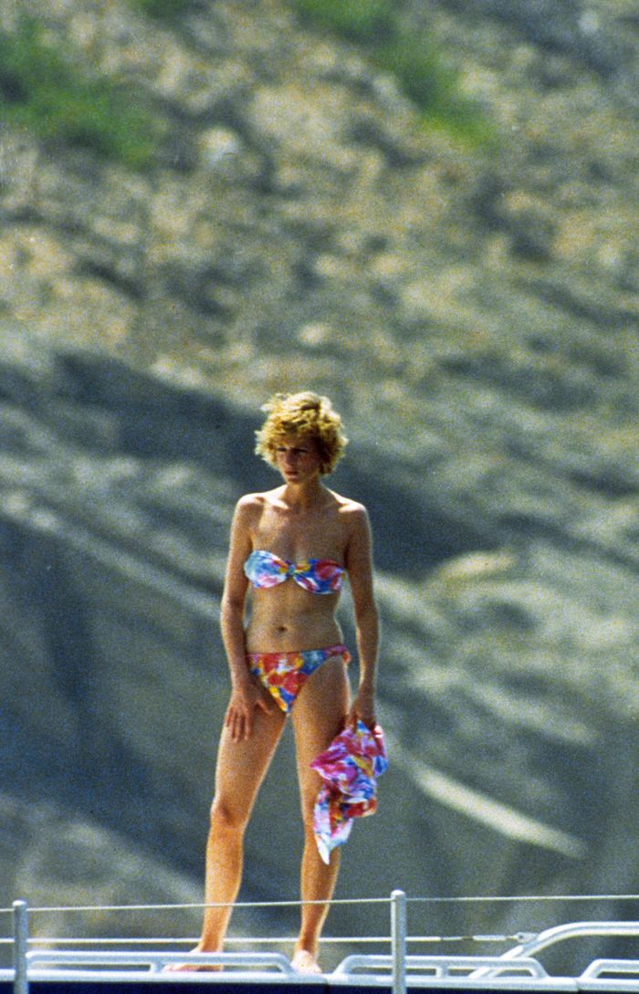 Princess Diana wearing a bikini