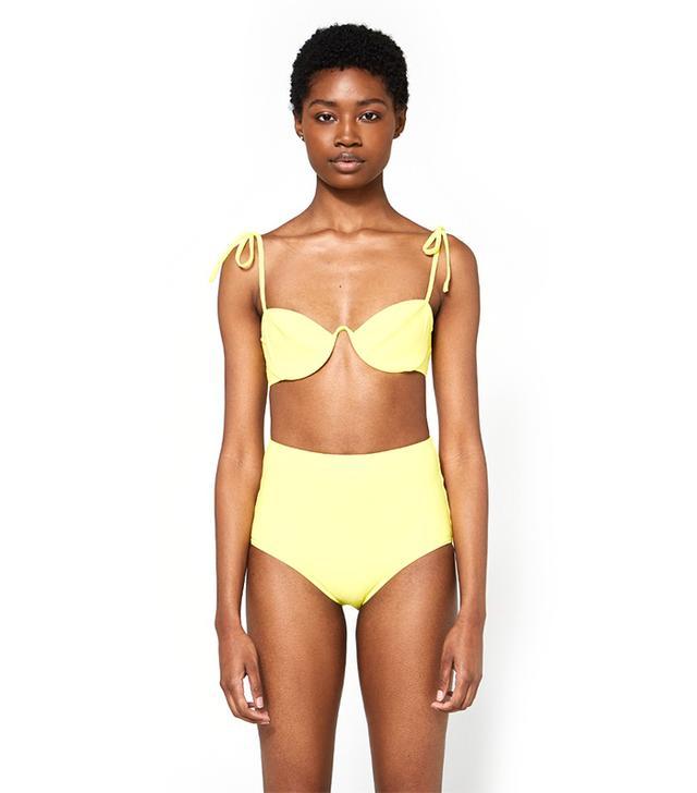 Myriam Bikini Top in Lemon