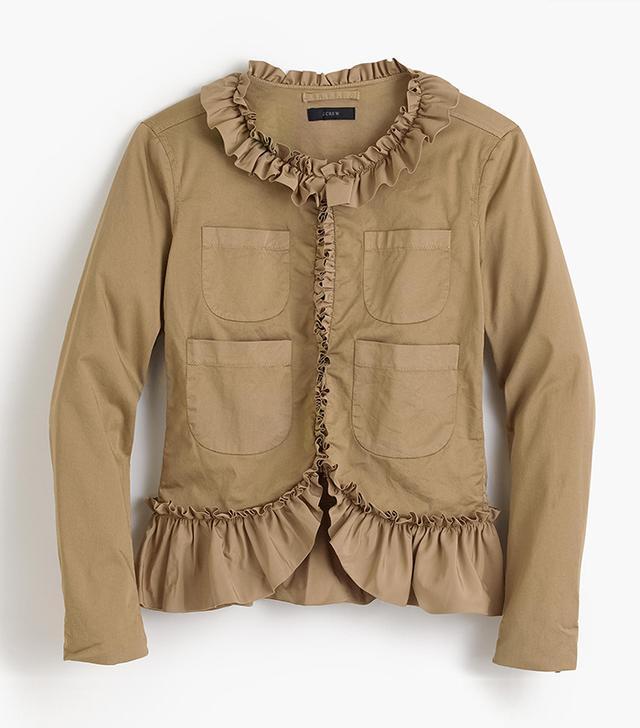 Ruffle chino jacket