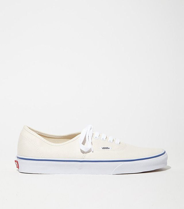 Vans Authentic Lace-Up Sneakers in Off-White