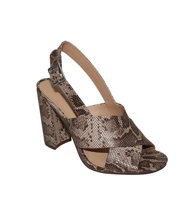 Who What Wear Harper Snake Print Crossband Sandals