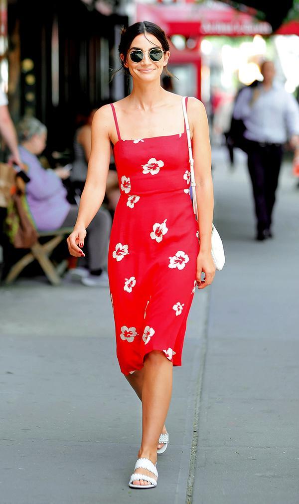 Lily Aldridge in Reformation dress