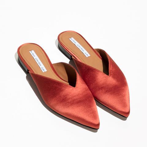Satin Pointy Slippers