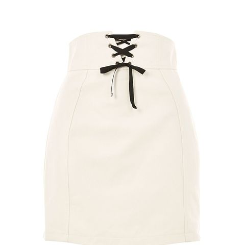 Corset Lace Up Skirt