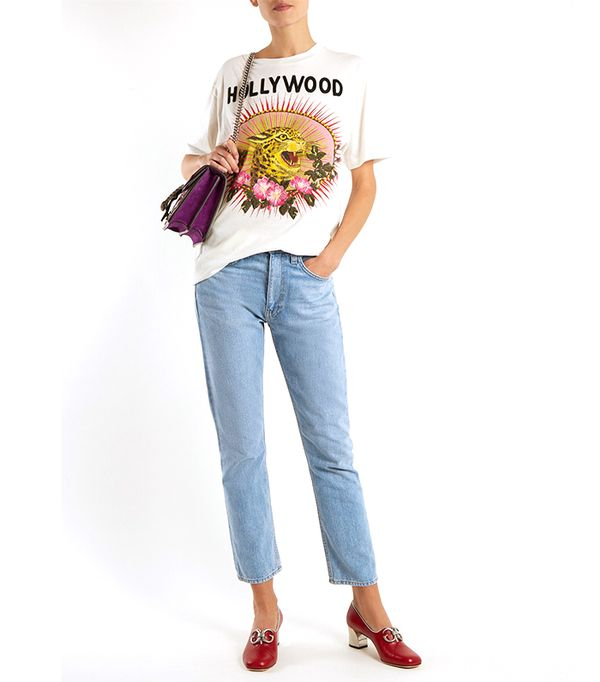 Hollywood Leopard-print cotton oversized T-shirt