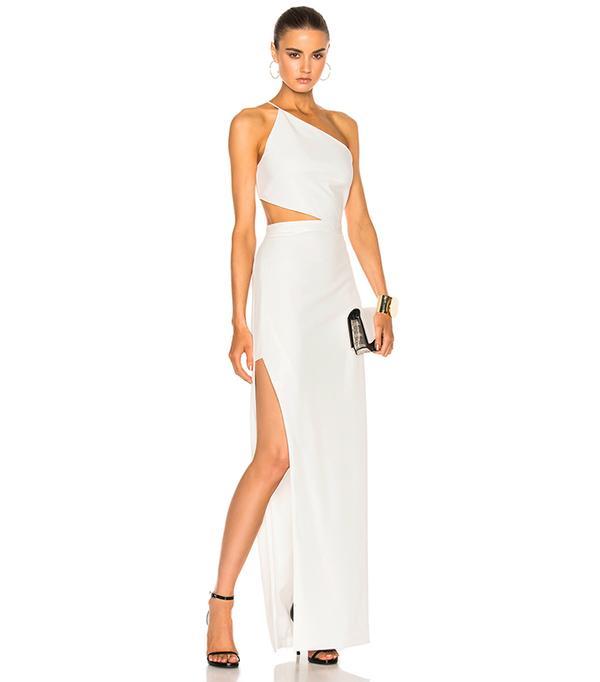 Asymmetrical Bandeau Gown