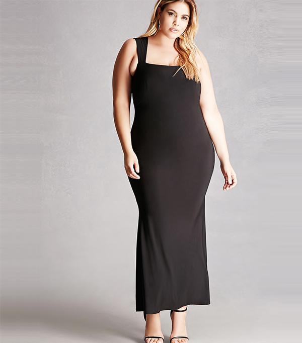 Plus Size Back Cutout Dress