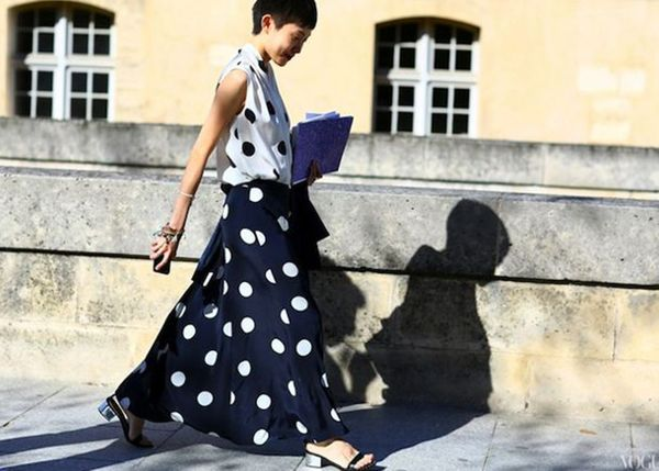 This season, polka dots are unapologetically bold and cool.