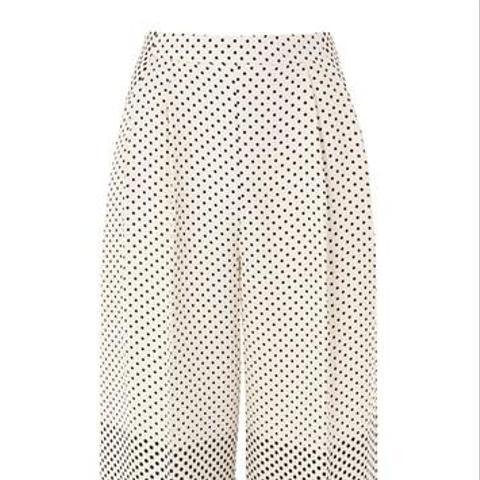 Spot & Stripe Crop Wide Leg Trousers